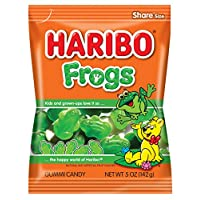 Haribo Gummi Candy, Frogs, 5 oz. Bag (Pack of 12)