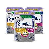 Similac Pro-Total 舒适婴儿配方奶粉,非转基因,易消化,温和配方,含有 2 英尺-fl hmo,适合免疫支持,婴儿配方奶粉,36 盎司,3 个装(一个月用量)