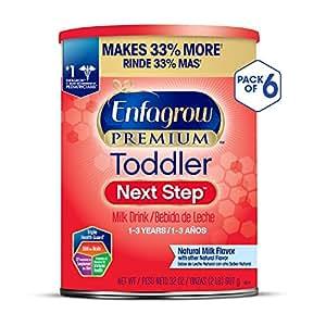 Enfagrow 美赞臣 PREMIUM Next Step 3段幼儿奶粉 32盎司(907g)/罐 6罐装(适用年龄:1-3岁)(包装随机发货)
