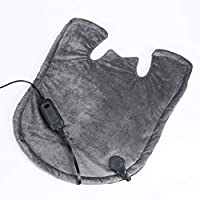 SensorPEDIC 加热背部和颈部加热器,炭黑色