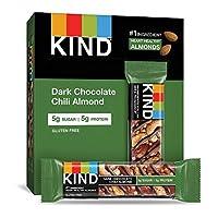 KIND Nuts&Spices,黑巧克力辣椒杏仁,12支,16.8盎司(约476.2克)