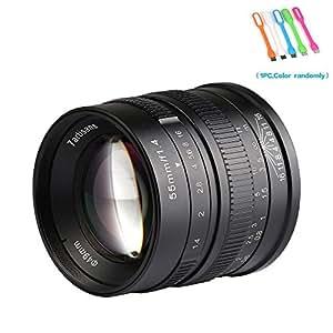 7artisans 25mm F1.8 大光圈手动聚焦 Prime 固定镜头 适用于索尼 E 安装摄像头 NEX-3/3N/C3/F3K/5K/5/5T/5T/5N/5N/5R,A7II,A7R,A7S,A7S,A5000,A5100,A6000,A6100 55mm F1.4 Sony E