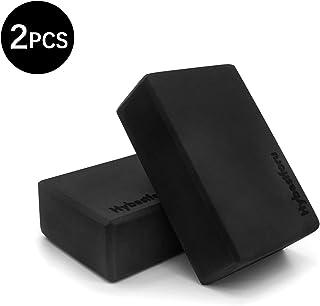 hybest foru 瑜伽砖 - 高*瑜伽砖,EVA 泡沫柔软防滑表面,适合锻炼瑜伽、普拉提、冥想(2 件装)