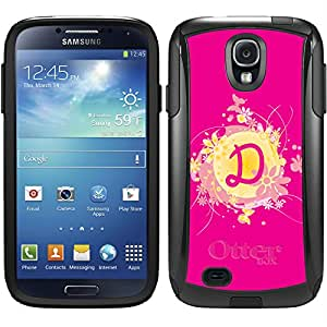 A - F designs on Black OtterBox Commuter Series Case for Samsung Galaxy S4 Funky Floral D