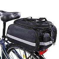 Opopark 自行车自行车后置架袋可拆卸携带架鞍包包
