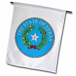 SANDY mertens Texas–州 SEAL OF Texas 纪念币 (pd-us)–旗帜 12 x 18 inch Garden Flag