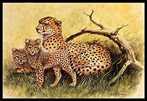Caroline's Treasures BDBA0113JMAT Cheetahs 由 Daphne Baxter 室内或室外垫,60.96 cm 高 x 91.44 cm 宽,多色