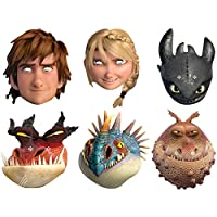 Star Cutouts SMP293 Hiccup/Astrid/Toothless/Monstrous Nightmare/Nadder 和 Gronckle 驯龙高手 2 面具,均码