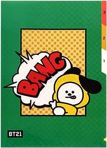 BTS 官方人物 3 口袋文件夹 + IdolparkGift Chimmy MN
