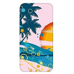 智能手机壳 透明 印刷 对应全部机型 cw-1191top 套 椰子树 palm tree UV印刷 壳WN-PR407276 AQUOS U SHV35 B款