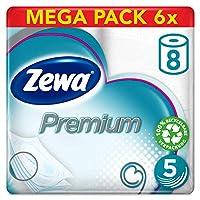 Zewa Premium 5 层卫生纸,大型包装 6 件装(8 卷,每卷 x 110张)
