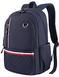 初中背包,大学生背包袋女式男式女孩男孩,可爱轻质防水大电脑书包适用于高中/大学/旅行适合15.6英寸笔记本电脑笔记本电脑 蓝色 中