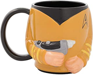 Vandor 55394 星际迷航 Spock 3D 耳朵陶瓷汤咖啡杯,20 盎司 黄色 18 oz 55973