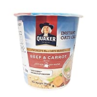 Quaker 桂格 胡萝卜牛肉风味燕麦片 28g*12(马来西亚进口)
