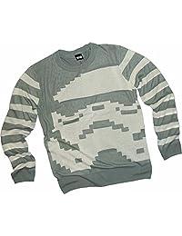 Stormtrooper 条纹 - 星球大战成人针织圆领毛衣