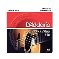 D'Addario D'Addario 原声吉他弦 80/20青铜 EJ 【国内正规商品】EJ12 1セット