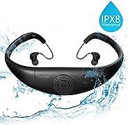 游泳MP3,8GB 防水MP3播放器,带洗牌游泳功能-黑色