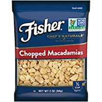 FISHER Chef's Naturals 切碎夏威夷果, 無防腐劑,2盎司(56克) (12件)
