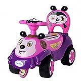 A+B 滑行车蜜蜂学步车儿童可坐宝宝玩具车婴儿靠背童车音乐助步车 7625玫红色