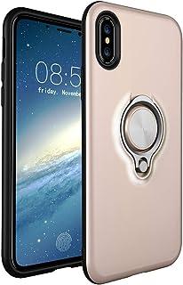 HONTECH 兼容苹果 iPhone Xs Max 6.5 英寸 2018手机套,磁力汽车支架 360 旋转环支架套
