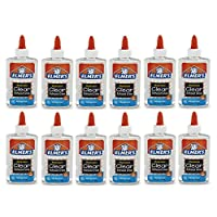Elmer's E305 Washable School Glue, 5 oz Bottle, 12 Pack, Clear