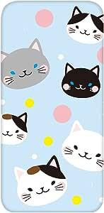 智能手机壳 透明 印刷 对应全部机型 cw-1016top 套 猫 猫 CAT UV印刷 壳WN-PR418061 ARROWS NX F-02H 图案E