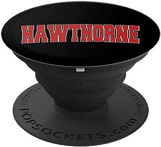 HAWTHORNE CA 加利福尼亚大学风美国复古运动冰球运动球员手柄和支架,适用于手机和平板电脑260027  黑色