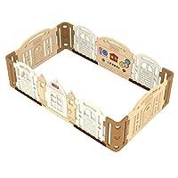 环保康乐儿童围栏 Dwinguler韩国原装进口 康乐围栏 城堡围栏 宝宝游戏防护栏 [完美匹配 康乐爬行垫 大型] (2.4m长*1.5m宽 高78.3cm)焦糖