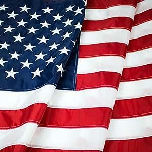 美国国旗:优质尼龙美国国旗 重用刺绣星星缝制条纹 - 豪华快干,全天候美国国旗,适合户外 4x6 Ft JET_LIFEE_03