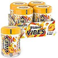Trident Vibes 熱帶水果無糖口香糖 - 4瓶裝 (共160塊)
