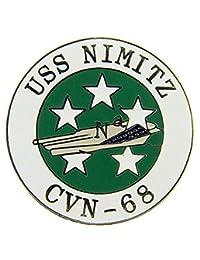 美国* USN USS Nimitz CVN-68 Script and Logo 2.54 cm 翻领别针