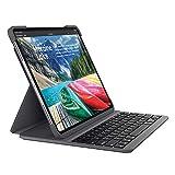 Logitech 罗技超薄 Folio Pro 保护套,适用于 Apple iPad Pro 12.9(*三代,蓝牙,背光键,磁扣,石墨色)