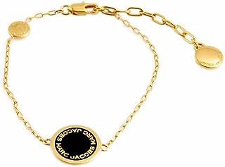 [MARC JACOBS] MARC JACOBS LOGO 圆盘 珐琅 手链 黑色×金色 Logo Disc Enamel Bracelet Black/Oro M0008540-062