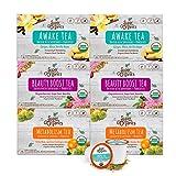 Super Organics 什锦茶包 益生菌 | Keurig K-Cup兼容 | 醒神茶,代谢茶,美容茶 | USDA Organic认证,素食主义,Non-GMO,72件装
