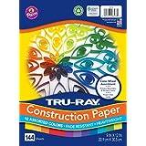 Tru-Ray 重磅建筑纸,彩色车轮搭配,22.86 厘米 x 30.48 厘米,144 张