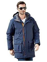 美国UAISI90% 白鹅绒风雪远征大衣新款男装中长款羽绒服男加厚保暖羽绒大码外套