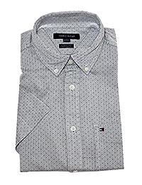 Tommy Hilfiger 汤米·希尔费格 汤米希尔费格 男式经典修身短袖纽扣衬衫