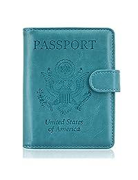 ACdream 护照夹套,保护性高级皮革 RFID 屏蔽钱包护照护套,