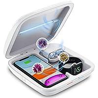 便携式手机清洁器带无线充电器,多功能 4 合 1 快速充电手机清洁盒,适用于所有智能手机、iWatch、AirPods