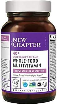 New Chapter 每日一粒 专为40+女性,女性多种维生素含发酵益生菌+维生素D3 + B维生素+Non-GMO成分 - 48粒