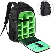 BERTASCHE DSLR/SLR 相机背包 w/ 15.6 英寸笔记本电脑隔层,相机包防水适用于尼康佳能索尼松下 DJI Mavic Pro 无人机