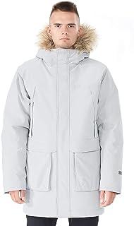 GYMAX 男式长款羽绒服,可拆卸人造毛皮连帽加厚冬季外套羽绒夹克派克大衣羽绒服