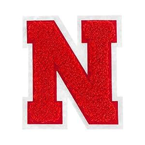 6.35 厘米热封雪尼尔大学校队字母 红色 n 13070092