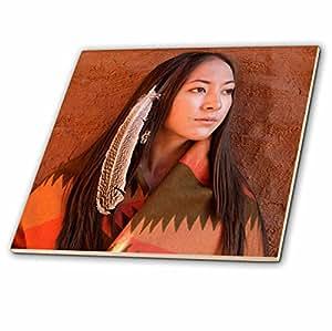 danita delimont–印*安人–新墨西哥州, cherokee 女人,美国本土–us32jmr0634–julien mcroberts–瓷砖