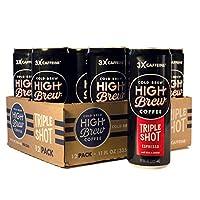 高釀酒冷釀咖啡濃縮咖啡三杯,11 盎司罐裝(12 支)
