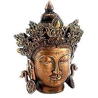 Bellaa 54665 佛像头胸 Tibet 冥想宁静和青铜抛光