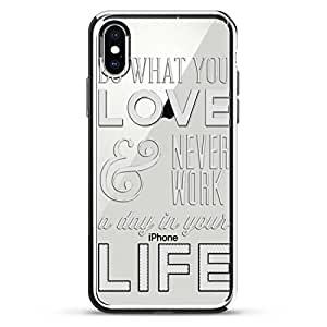 """LuxendaryLUX-IXCRM-QWORK1 Do What You Love Quote iPhone X (5.8"""") 银色"""