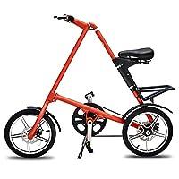汗马 折叠自行车 超轻铝合金车架单车机械碟刹 创意潮男女式成人学生便携迷你 16寸