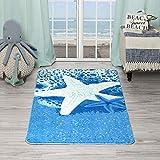 Evolur Home Star Fish 育儿室卧室/客厅/婴儿游戏垫/儿童地毯/游戏地毯/儿童地毯/地垫地毯 139.08x80.01 cm