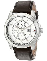Tommy Hilfiger汤米·希尔费格男士1710294不锈钢手表 带棕色真皮表带